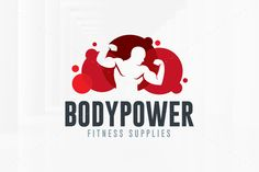 Body Power Logo Template by LiveAtTheBBQ on @creativemarket