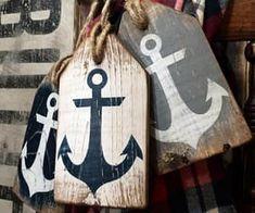 Items similar to Anchor Tag Set Nautical Decor Wood Anchor Sign Nautical Sign Art Beach Decor Rustic Distressed Ahoy Sign Sailing Coastal Decor on Etsy Nautical Signs, Nautical Theme, Nautical Anchor, Nautical Wedding, Coastal Decor, Rustic Decor, Wood Anchor, Anchor Art, Anchor Signs