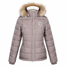 Harcour Charlotte Ladies Padded Winter Jacket-TAUPE