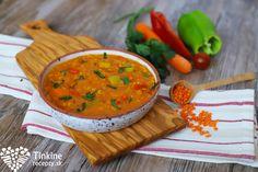 Šošovicová polievka tureckej nevesty Eating Well, Thai Red Curry, Salsa, Vegan Recipes, Soup, Ethnic Recipes, Recipe, Eat Right, Vegane Rezepte
