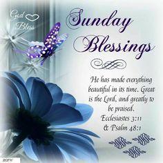 Sunday Blessings. Psalm 48:1.God Bless.