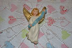 Vintage Hanging Nativity Angel ~ Composition ~ make great tree ornament