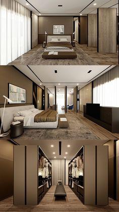 Bedroom Wall Designs, Bedroom False Ceiling Design, Luxury Bedroom Design, Home Room Design, Master Bedroom Design, Home Interior Design, Modern House Plans, Modern House Design, Casa Retro
