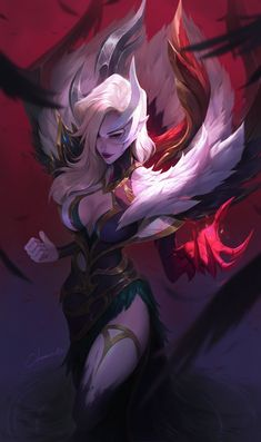 Beautiful Science Fiction, Fantasy and Horror art from all over the world. Lol League Of Legends, Morgana League Of Legends, Evelynn League Of Legends, League Of Legends Characters, Legend Of Legends, Fantasy Art Women, Dark Fantasy Art, Fantasy Girl, Final Fantasy