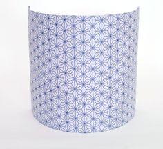 Applique 25 x 25 cm en tissu motifs japonais bleus et blancs