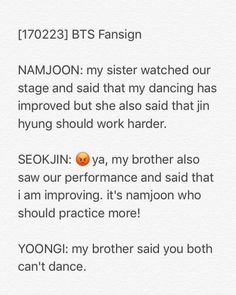 Bangtan dissing each other<3
