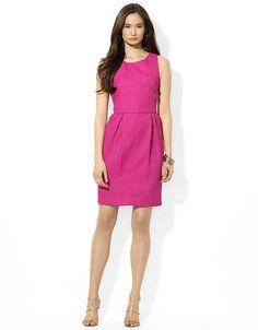 Sleeveless Scoopneck Dress by Lauren by Ralph Lauren