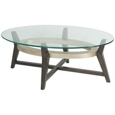 Bassett Mirror Thoroughly Modern Elston Oval Cocktail Table