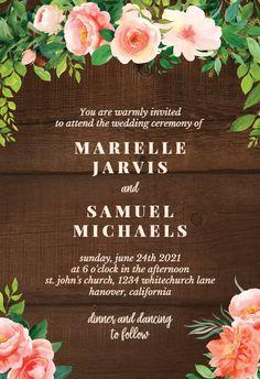 Wedding - Wedding Invitation #invitations #printable #diy #template #wedding Free Wedding Invitations, Gift Registry, Wedding Ceremony, Create Yourself, Printable, Diy, Bricolage, Do It Yourself, Homemade