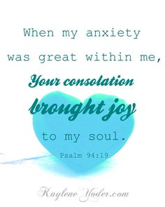 consolation brought joy
