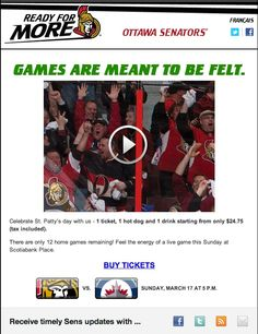 Ottawa Senators - Great St. Patrick's Day deal for tickets and concessions!