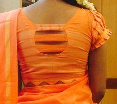 Indian saree blouse designs - The handmade craft Patch Work Blouse Designs, Simple Blouse Designs, Stylish Blouse Design, Cotton Saree Blouse Designs, Kurti Neck Designs, Designer Blouse Patterns, Blouse Desings, Craft, Blouse Models