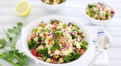 Rainbow Veggie Grain Salad | BourbonAndHoney.com