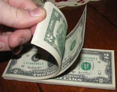 """Fun way to give a gift of cash. Easy tut to bind it into a """"notepad"""""""