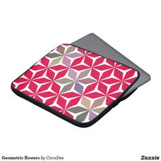 A water resistant #neoprene sleeve with a colorful pattern. Perfect for your #laptop. #zazzle http://www.zazzle.com/geometric_flowers_laptop_computer_sleeves-124177325829070978