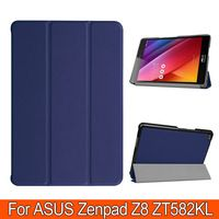"3 Folding Cover for Asus Zenpad Z8 7.9"" (ZT581KL) tablet case PU leather stand protecitve cover case Zenpad 3 8.0 Z581KL"