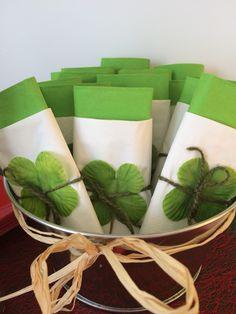 Ideas para colocar las servilleta en tu #fiesta de #caperucita