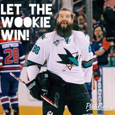 San Jose Sharks Brent Burns is the Wookie you don't want to mess with!