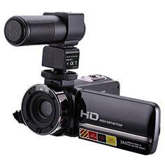 Caméra de vision nocturne avec microphone, Stoga 1080P 16X Zoom numérique 3 pouces à écran tactile Caméra vidéo caméscope HDV caméra portable HDV
