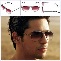 Bollywood Celebrity Sidharth malhotra With Idee Aviator Sunglasses. http://www.fashionscot.com/Products/Unisex-Unisex-Eyewear-Unisex-Sunglasses/IDEE/Idee-Sunglasses-IDEE-S1700-C10-Aviator/pid-2630833.aspx