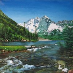 Artwork >> Vera Volkova Gennad`Evna >> Mountain river