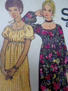 70s Boho Granny Gown Sewing Pattern Butterick by PatternMatters, $10.00