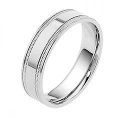 Men S 9ct White Gold Wedding Ring How To Wear Rings