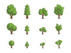 vectores gratis de arboles 15 Paquetes de vectores gratis (iconos, UI, dispositivos, etc)