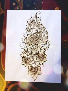 61 Ideas For Henna Tattoo Boho Henna Designs On Paper, Mehndi Designs Book, Mehndi Design Pictures, Mehndi Images, Mehandi Designs, Rangoli Designs, Mehndi Art, Henna Mehndi, Henna Art