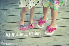 DIY Fabric Covered Flip-Flops