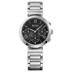 BOSS watches for women - Fine materials for a comfortable fit BOSS watches for women ladies classic women sport chronograph watch WGRXMIY Bracelet Making, Bracelet Watch, Montres Hugo Boss, Elegant Summer Outfits, Gold And Silver Watch, Armani Watches For Men, Shops, Classic Man, Watch Case