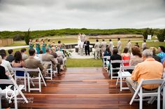 Sanderling Ceremony on our Event Deck and Fire Pit