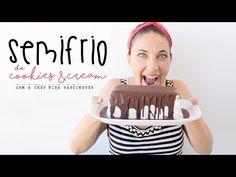 La Dolce Rita: Semifrio de Cookies & Cream Oreo, Bolo Original, Sweet Recipes, Ice Cream, Sweets, Cookies, Sweetest Thing, Youtube, Cheesecake