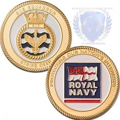 814 & 815 Naval Air Squadron challenge coins for sale at www.worldchallengecoins.co.uk