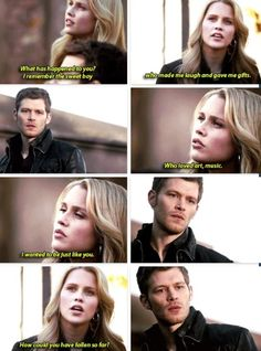 Klaus breaks my heart. I don't understand how any of them can ask why he is so messed up. They all know