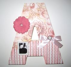 Large Shabby Chic Embellished Initials can be hung or stood up on a shelf! Our selection is dwindling.