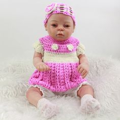 207.20$  Watch now - http://ali6va.worldwells.pw/go.php?t=32757417417 - New Style 20 Inch Reborn Baby Girl Doll Full Silicone Vinyl Newborn Princess Dolls Toy With Rooted Mohair Kids Birthday Gift