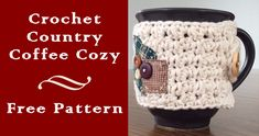 Here is a free crochet pattern for you all! I made this crochet coffee cozy last fall and it was so quick and easy... and really cute! I love the old fashioned, country feel and it looks amazing on...