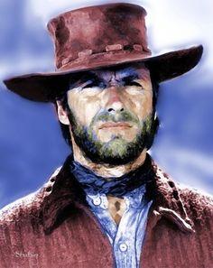 Eastwood in digital watercolor by Shahin Gholizadeh