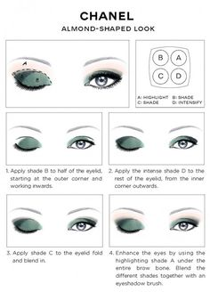 CHANEL Eye Makeup Chart_CHANEL ALMOND-SHAPED LOOK how-to