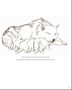 """Maternidad en el reino animal.  De """"El lobo rojo"""" © F.K. Waechter"""