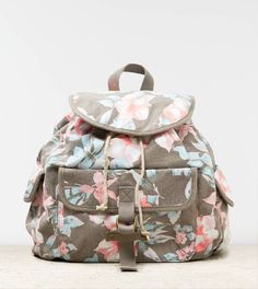 Floral backpack / American Eagle AEOフローラルキャンバス バックパック (リュック) - shopstyle.co.jp