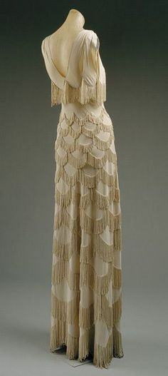 Fringed 1930's dress.