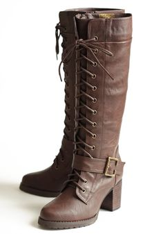 City Riding Lace-up Boots #threadsence #fashion