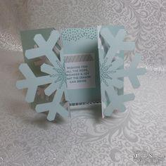 Open Snowflake Card from November Paper Pumpkin