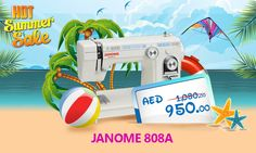 Janome 808A #Janome #sewing #machine #summer #deal #discount #offer #sale #promo #stitching #embroidery #thread #festival #industrial