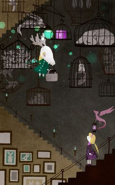 illustration of the dice, the purple. Sofia in the castle of witch