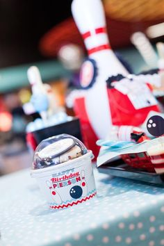 Retro 4th Birthday Bowling Party - Kara's Party Ideas - The Place for All Things Party
