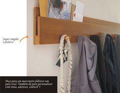 Simples e funcional: cabide e porta correspondência - *Vista a Casa! por MesklaDesign