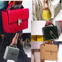 Hermes Cinetic d'Hermes and Toupet Bags - Spring 2017